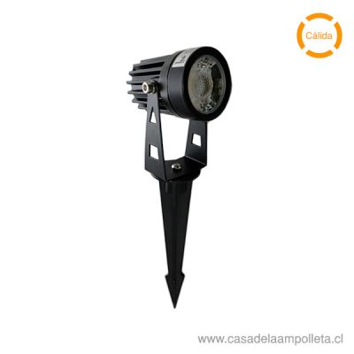 FOCO ESTACA LED 5W - BLANCO CÁLIDO (3000K)