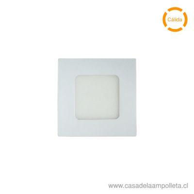 PANEL LED CUADRADO EMBUTIDO 3W - BLANCO CÁLIDO (3000K)