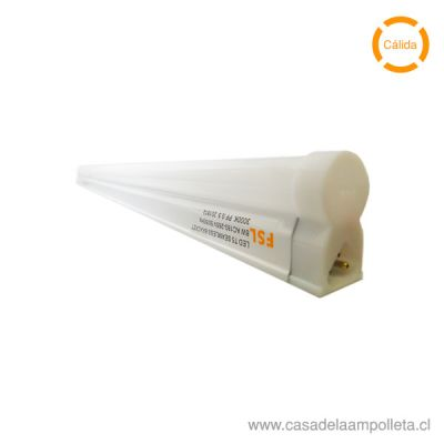 EQUIPO LED LINEAL T5 8W 60CM - BLANCO CÁLIDO (3000K)