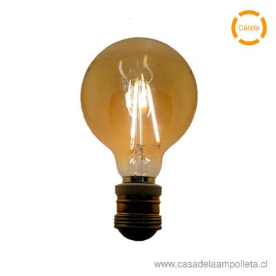 AMPOLLETA LED VINTAGE GLOBO DIMEABLE 5W - CÁLIDA (2200K)