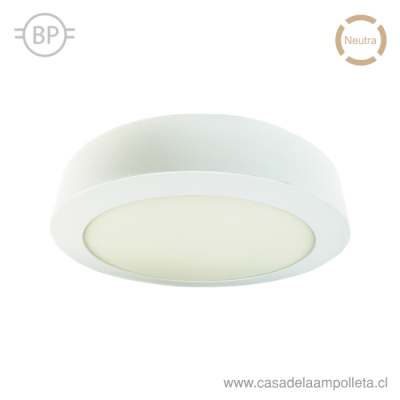 PANEL LED REDONDO SOBREPUESTO 18W - BLANCO NEUTRO (4000K)