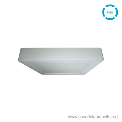 PANEL LED CUADRADO SOBREPUESTO 18W -  BLANCO FRIO (6500K)