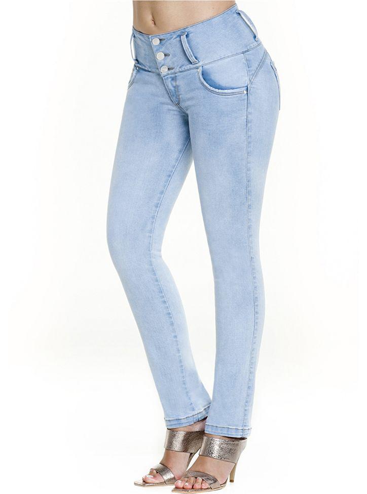 Jeans Levantacola Con Faja Interior J-6140 Truccos - PaoPink