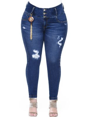 Jeans Levantacola Con Faja Interna JP-2132 Truccos - PaoPink1