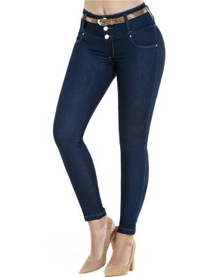 Jeans Levantacola Con Faja Interior J-6155 Truccos - PaoPink