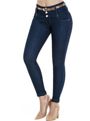 Jeans Levantacola Con Faja Interior J-6155 Truccos - PaoPink1