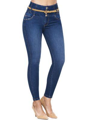 Jeans Colombiano Faja Interior J-6281 Truccos - PaoPink1