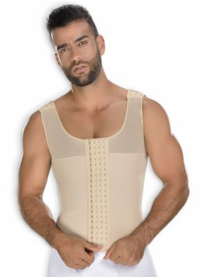 Faja Colombiana Hombre Chaleco Beige CH-0062 MyD - PaoPink