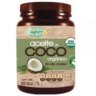 Aceite de Coco Sin Olor Ni Sabor Enature