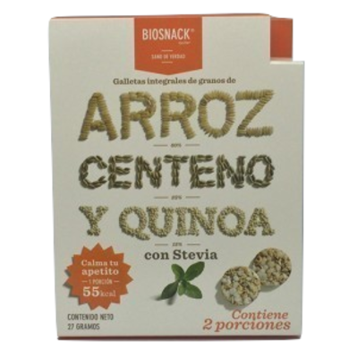 Galletas Arroz Centeno Quinoa Dulce Biosnack