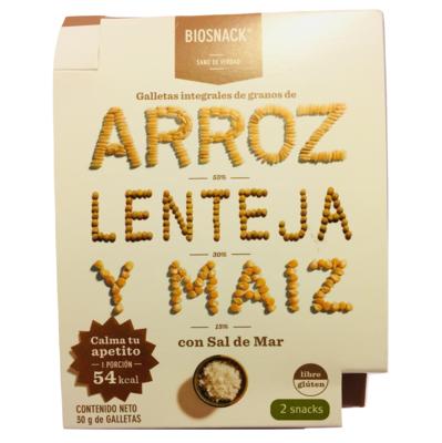 Galletas Arroz Lenteja Maíz Salada Biosnack