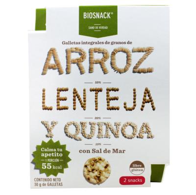 Galletas Arroz Lenteja Quinoa Salada Biosnack