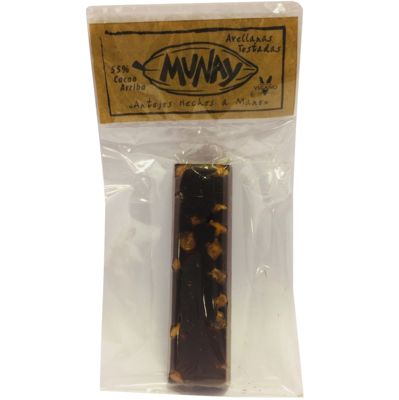 Barra 55% Cacao Avellanas Tostadas Munay