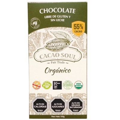 Barra de Chocolate 55% Orgánico Cacao Soul