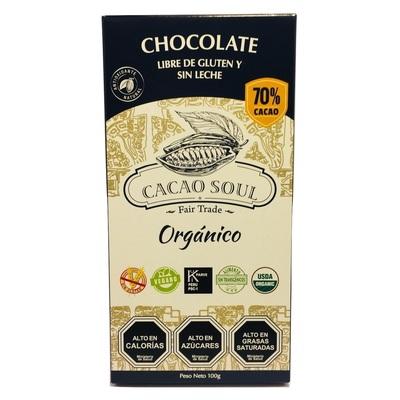 Barra de Chocolate 70% Orgánico Cacao Soul