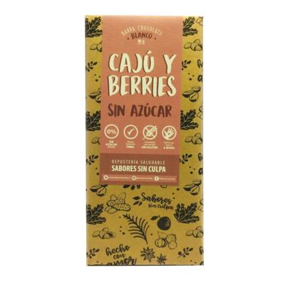 Chocolate Blanco Cajú y Berries Sin Azúcar Sabores Sin Culpa