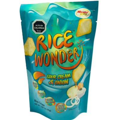 Chips de Arroz Sour Cream Rice Wonder