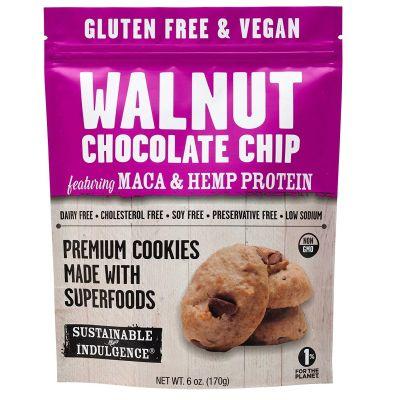 Galletas de Chips de Chocolate, Maca y Proteína de Cáñamo, Sustainable Indulgence