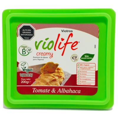 Queso Vegano Creamy Tomate & Albahaca Violife