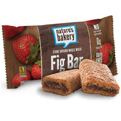 Barra de trigo integral rellena de frutilla, Nature's Bakery