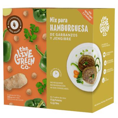 Hamburguesas Garbanzo y Jengibre Green Burger