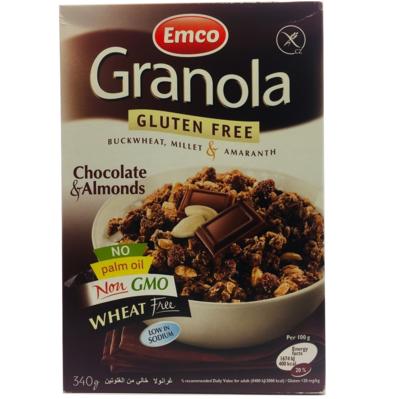 Granola Sin Gluten Chocolate Almendras Emco