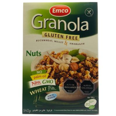 Granola Sin Gluten Frutos Secos Emco