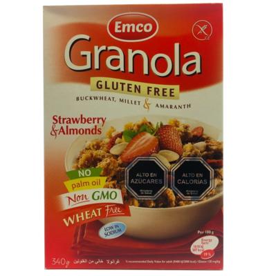 Granola Sin Gluten Frutilla Almendras Emco