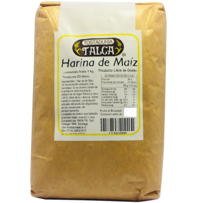 Harina de Maíz Tostaduría Talca