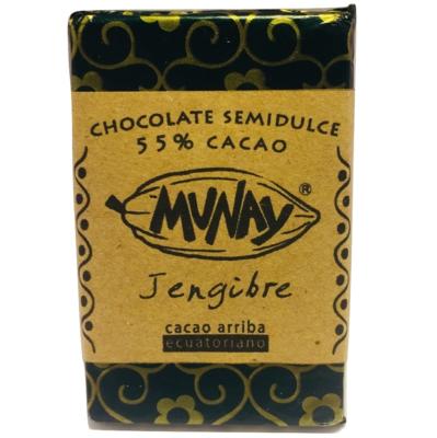 Chocolate 55% Cacao Jengibre Munay