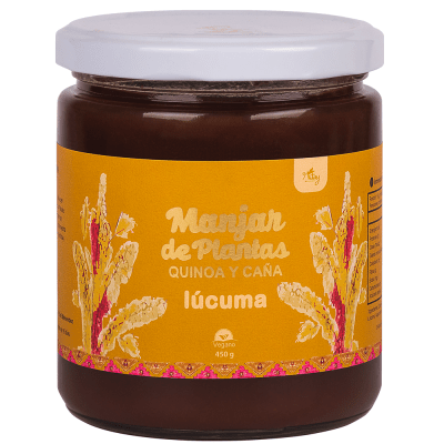 Manjar de Plantas Quinoa y Caña. Lúcuma Nitay