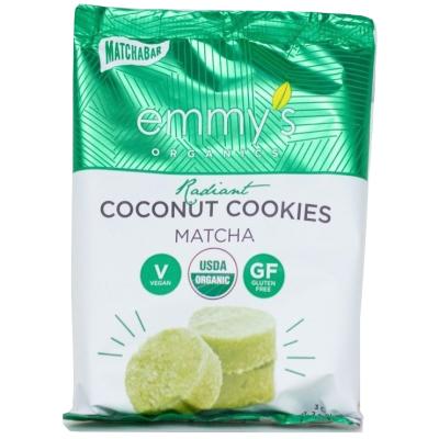 Galletas Orgánicas de Coco y Té Matcha, Emmy´s