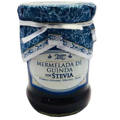 Mermelada Guinda con Stevia Huerto Azul