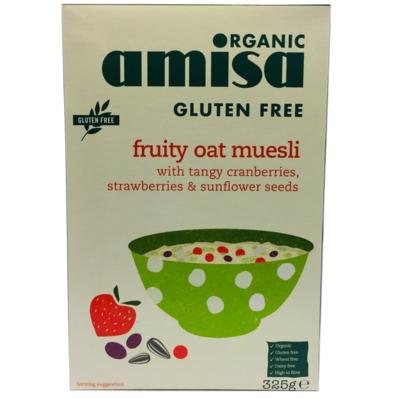 Muesli Sin Gluten Cranberry Frutilla Amisa