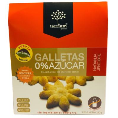 Galletas Naranja Jengibre Terrium 180 Gr.