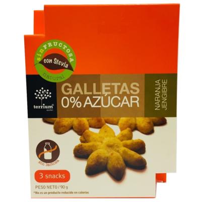 Galletas Naranja Jengibre Terrium 90 Gr.
