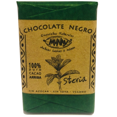 Chocolate 100% Cacao con Stevia Munay