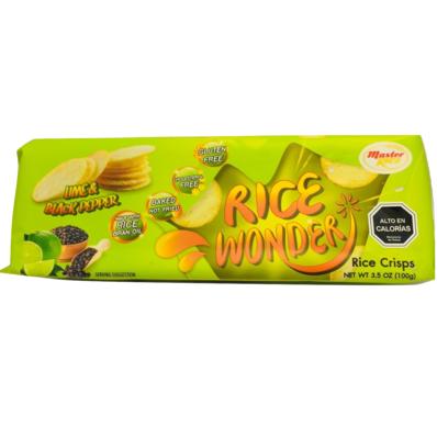Chips de Arroz Lime & Black Pepper Rice Wonder