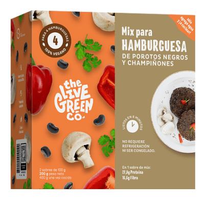 Hamburguesas Porotos Negros y Champiñones Green Burger