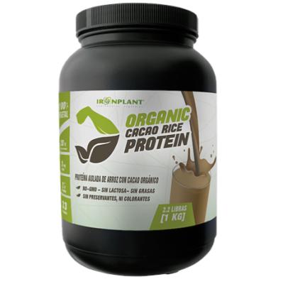 Proteína de Arroz con Cacao Orgánico Iron Plant