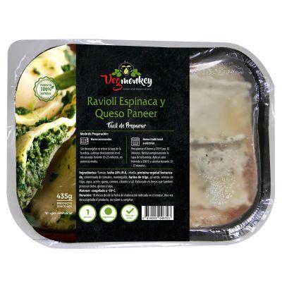 Ravioli Vegetariano Espinaca y Ricotta 435 gr. Vegmonkey