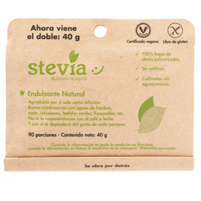 Stevia Hoja Molida Dulzura Natural 40 gr