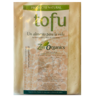 Tofu No Transgénico Zen Organics (330 gr. Aprox.)