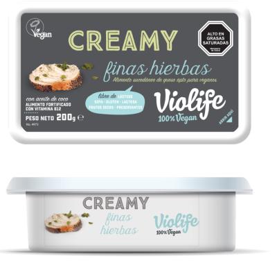 Queso Vegano Creamy Finas Hierbas Violife