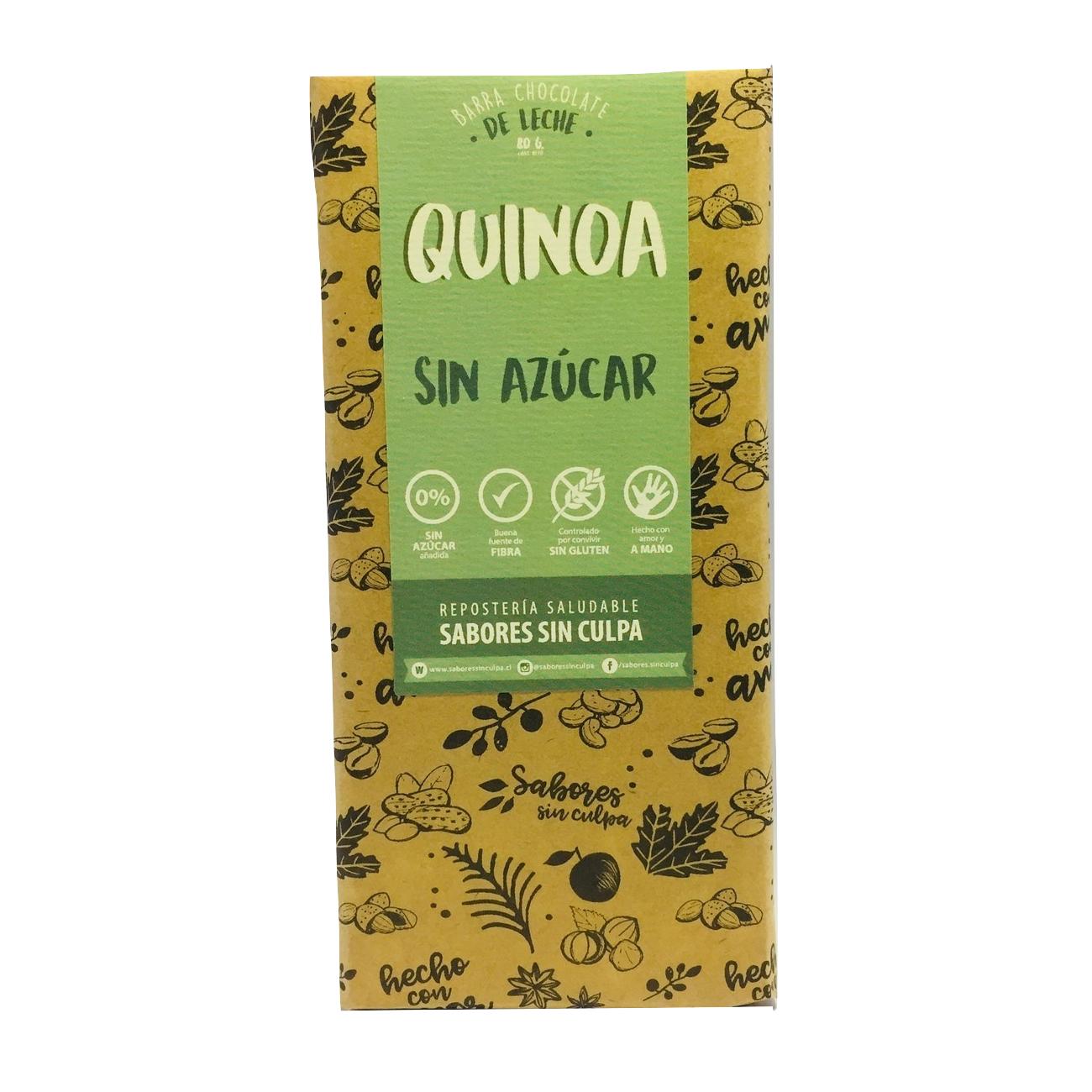 Chocolate de Leche Quinoa Sin Azúcar Sabores Sin Culpa