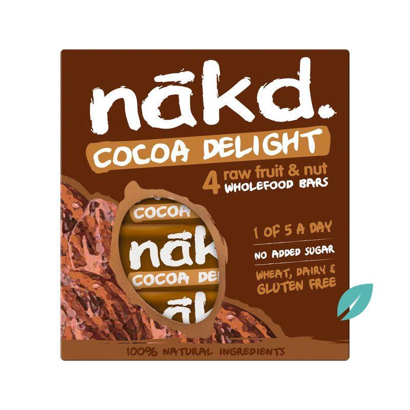 Pack 4 unidades Barra de cereal Nakd Cocoa Delight