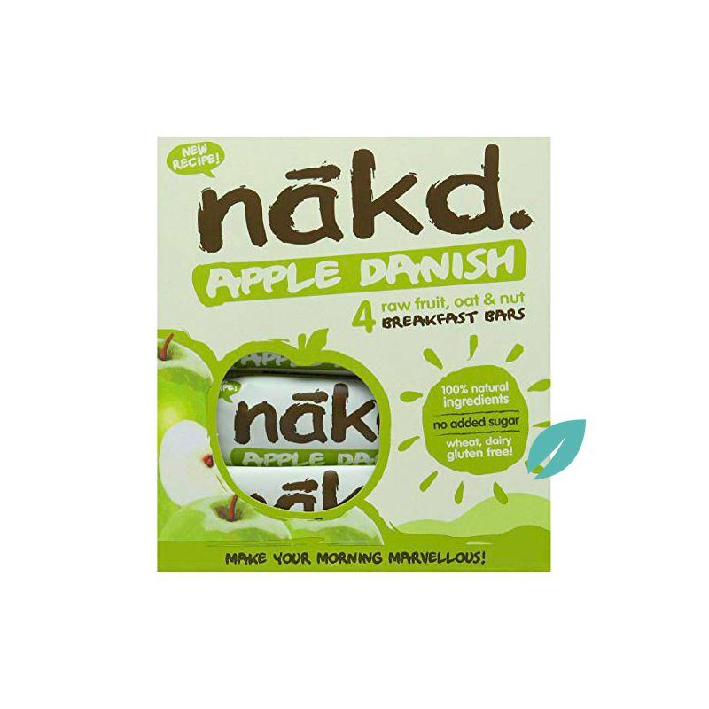 Barra de cereal saludable sin gluten Apple danish Pack 4 unidades