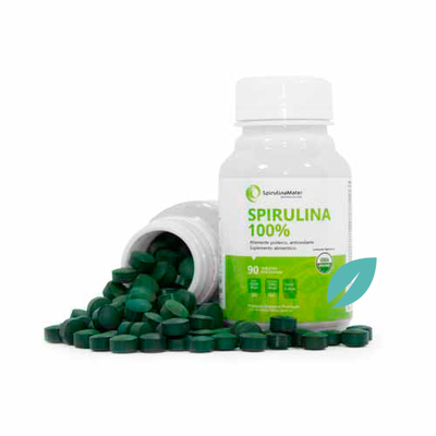 Espirulina Natural en 90 o 180 tabletas