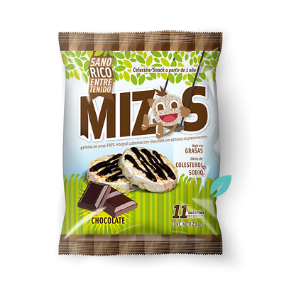 MIzos Galletas de arroz Chocolate 20 grs
