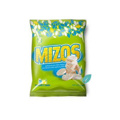 Mizos Galletas de arroz Yogurt y Limon 20 grs